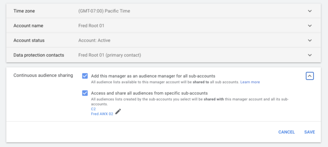 Google Ads Zielgruppe in anderem Account nutzen